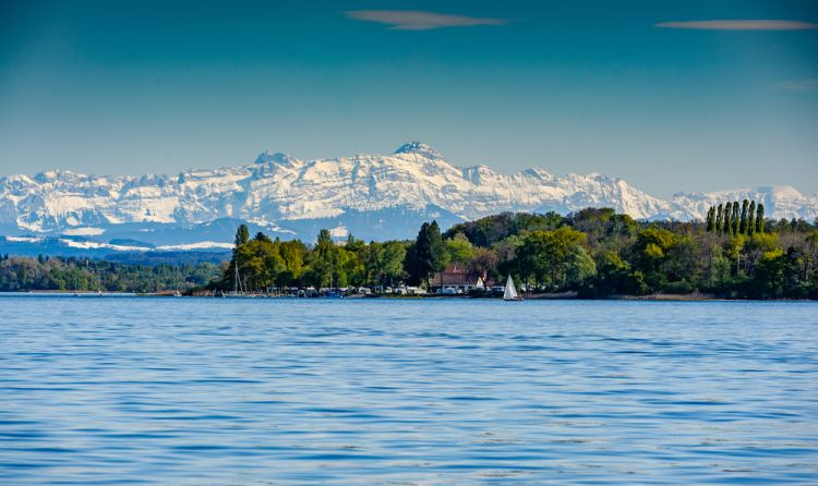Mountain Saentis over the Lake Constance - Best Scenic Routes for Your First Road Trip in Germany