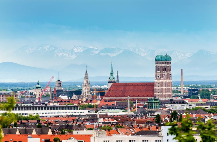 Alps view from Munich -Best Scenic Routes for Your First Road Trip in Germany