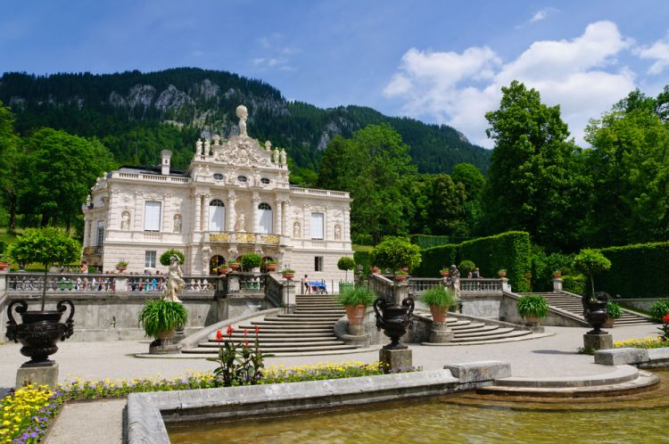 Linderhof Palace, built by King Ludwig II of Bavaria - Best Scenic Routes for Your First Road Trip in Germany
