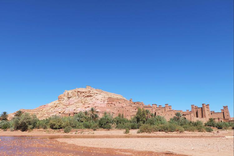 Desa Ait Benhaddou yang bikin serasa di Mars (foto: Mega Putri).