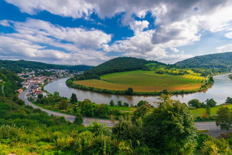 Best Scenic Routes for Your First Road Trip in Germany - The view of Neckar River