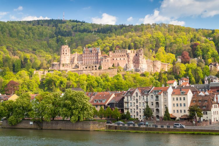 Best Scenic Routes for Your First Road Trip in Germany - The ruin of Heidelberg Castle