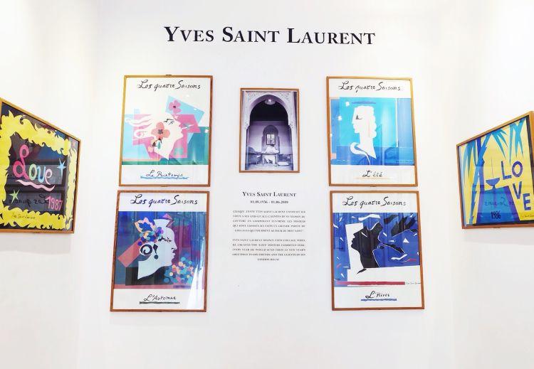 Beberapa hasil karya sang desainer yang juga dijual dalam bentuk kartu pos (foto: Mega Caesaria).