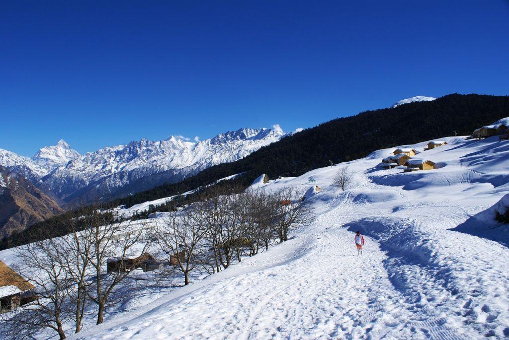 hamparan salju untuk berski
