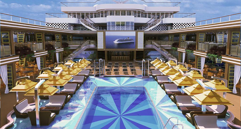 المسبح الرئيسي في سفينة كوستا دياديما - الصورة من موقع costacroisieres