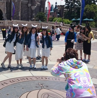 Mickey Mouse fans schoolgirls