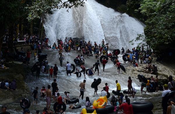 Air Terjun Bantimurung, Maros, Sulawesi Selatan. Foto: Antara/Sahrul Manda Tikupadang