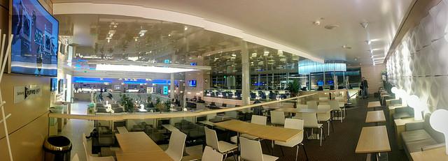 Finnair lounge at Helsinki