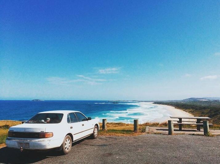 Toyota Camry '94 yang menemani Irham Faridh menyusuri Australia dari utara ke selatan