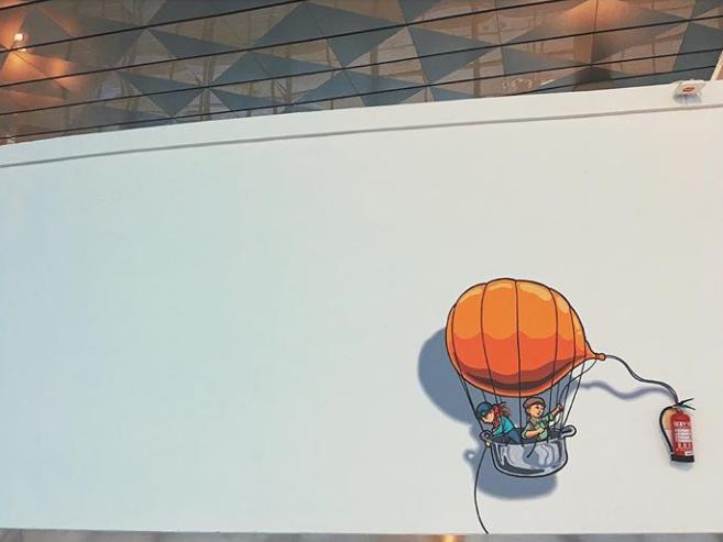 mural terminal 3 bandara soekarno hatta