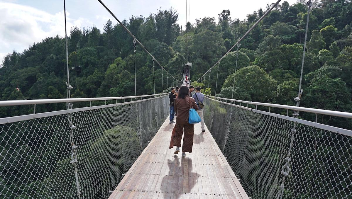 Jembatan Situ Gunung, Jembatan Gantung Terpanjang se-Indonesia