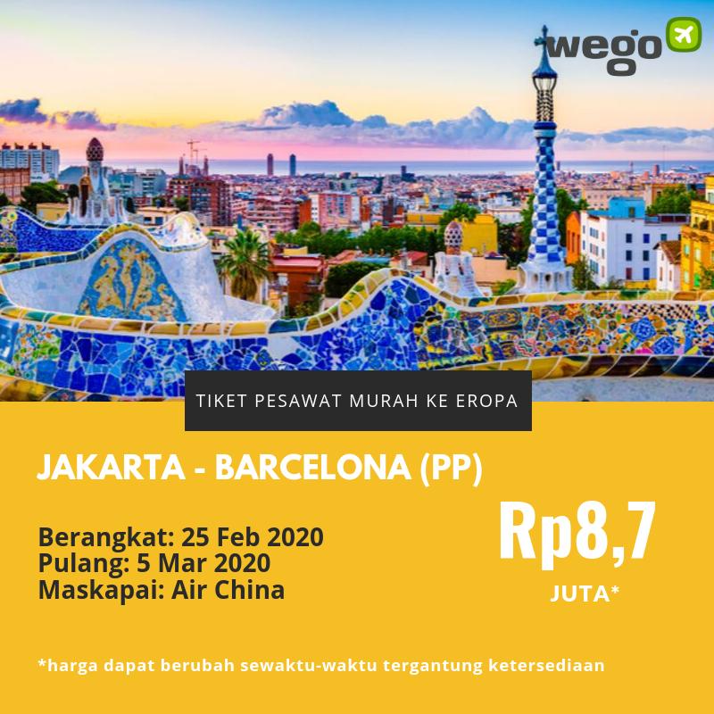 Tiket Pesawat Murah Jakarta Barcelona