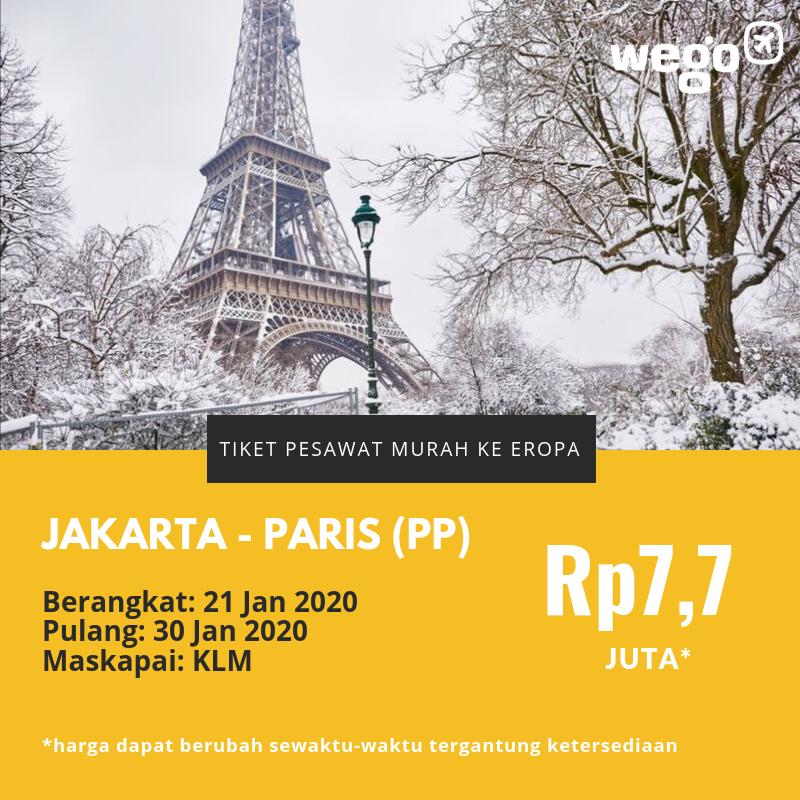 Promo Tiket Jakarta - Paris 2020