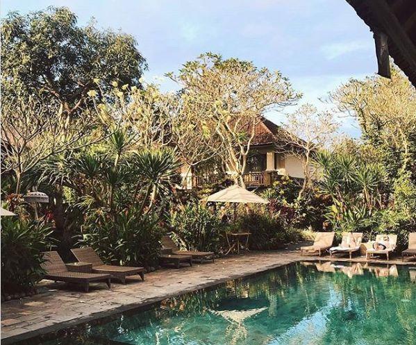 kolam renang dengan suasana alam
