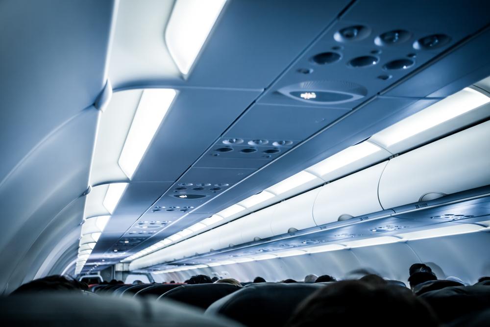 tata cahaya di dalam pesawat