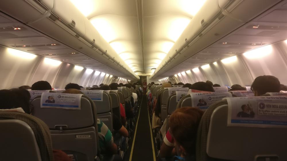 pencahayaan di dalam pesawat