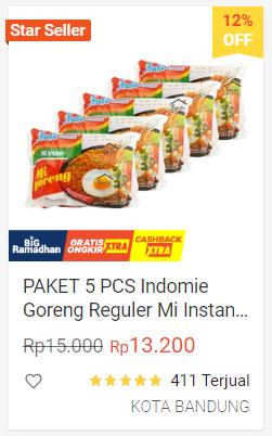 paket indomie shopee