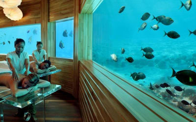 Fancy Getting a Massage Underwater? These Breathtaking Spots Let You Eat, Sleep, and Have Fun Under the Sea