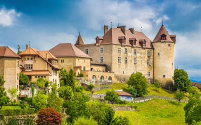 This Quaint Village in Switzerland Has Everything You Love From Europe: Castles, Cheese, Aliens...?