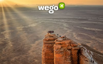 Standing at the Edge of the World, Saudi Arabia's Spectacular Hidden Gem