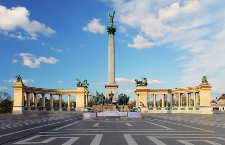 Budapest Heroes Square - Top Historic Locations in Europe