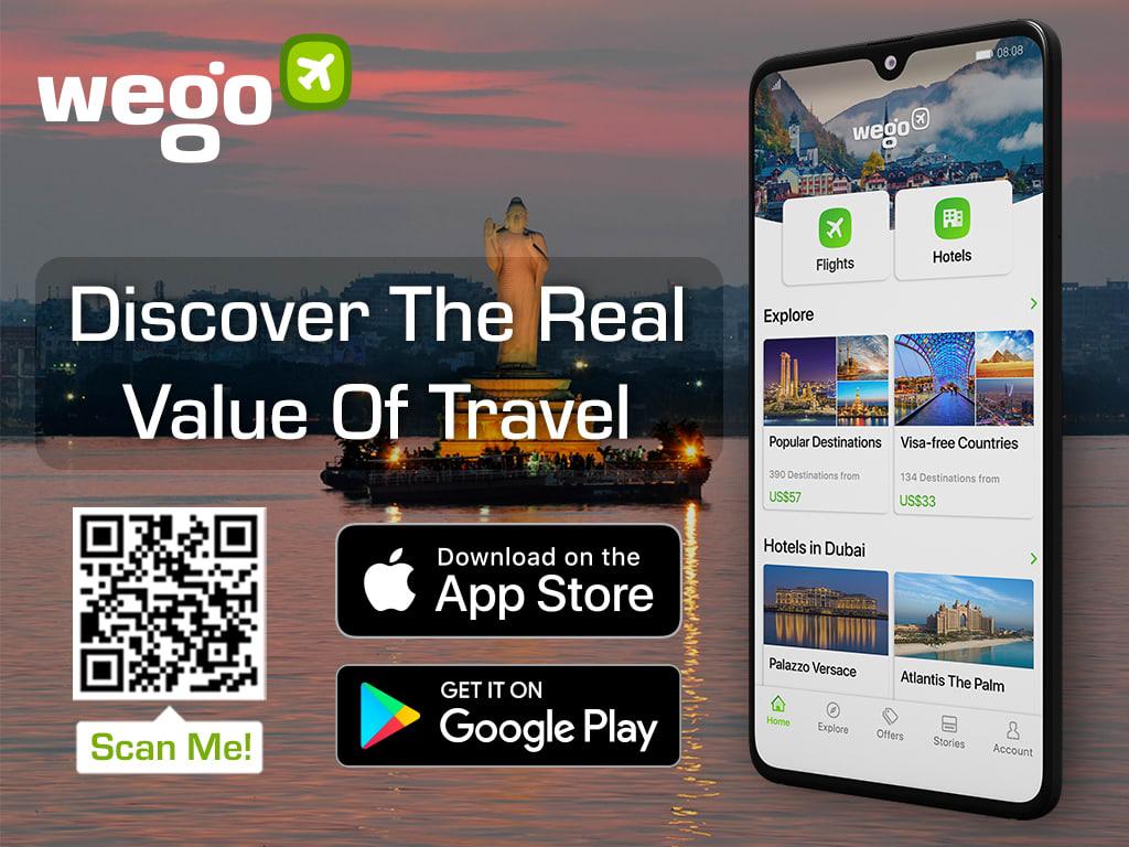 Hyderabad Hussain Sagar Lake - Wego travel app banner