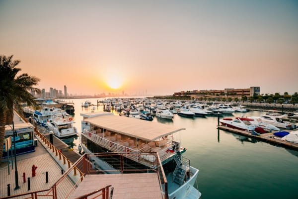 Marina Crescent kuwait, sunset