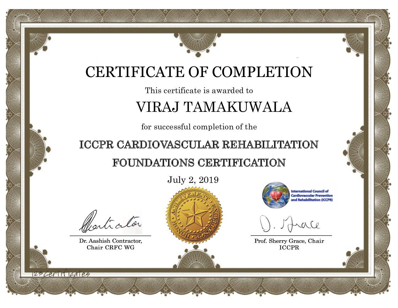 ICCPR Certification completion certificate VirajT 1 pdf 1