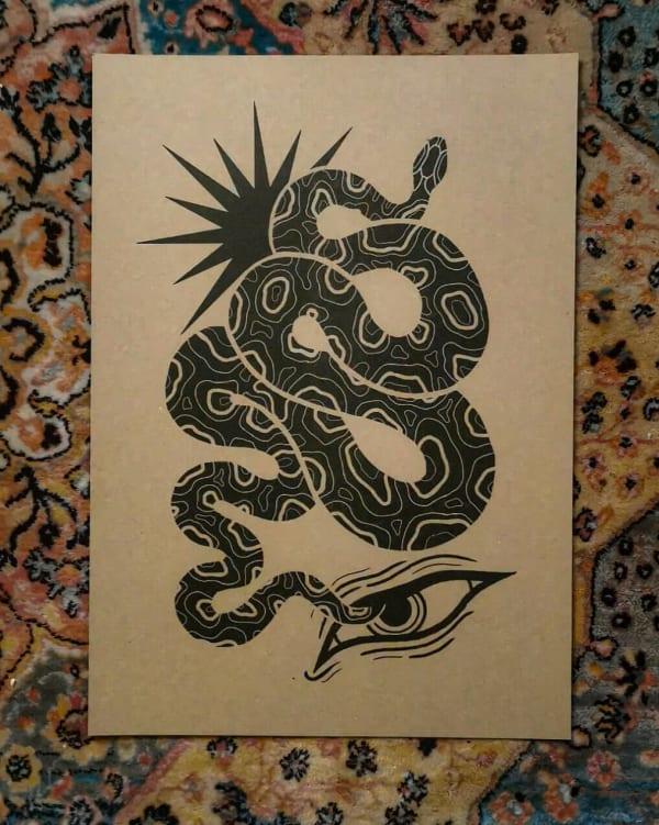 A3 print by @lisanne_handpoke