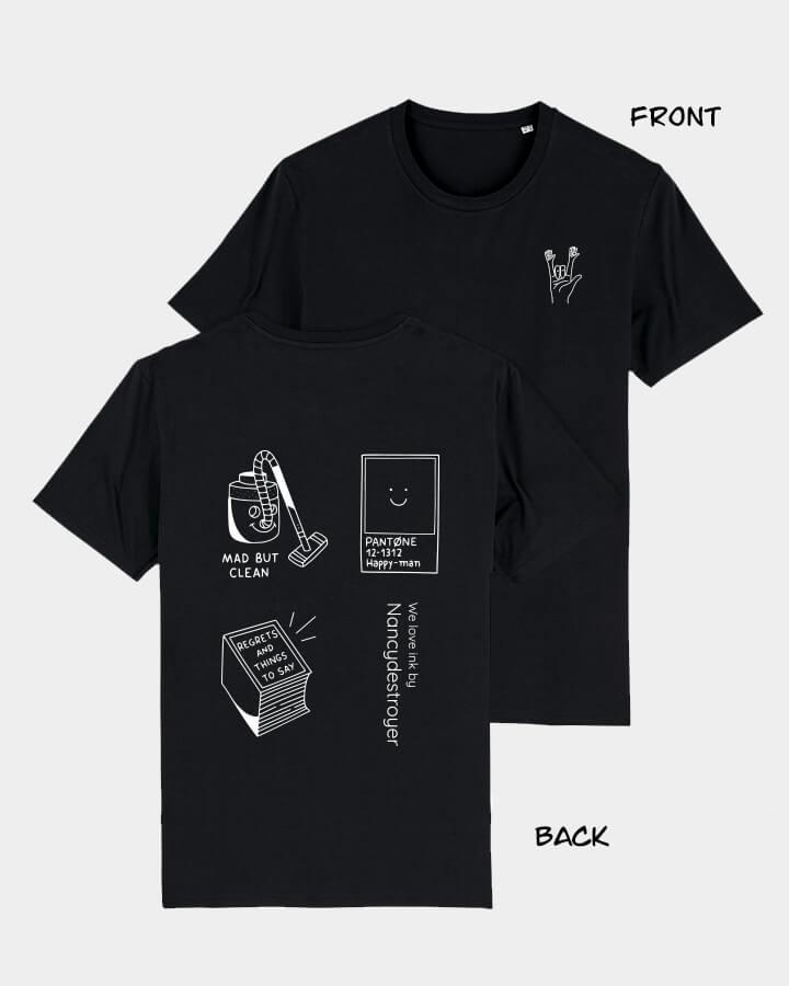 NANCYDESTROYER X WINKT collab.<br/>T-Shirt, black.