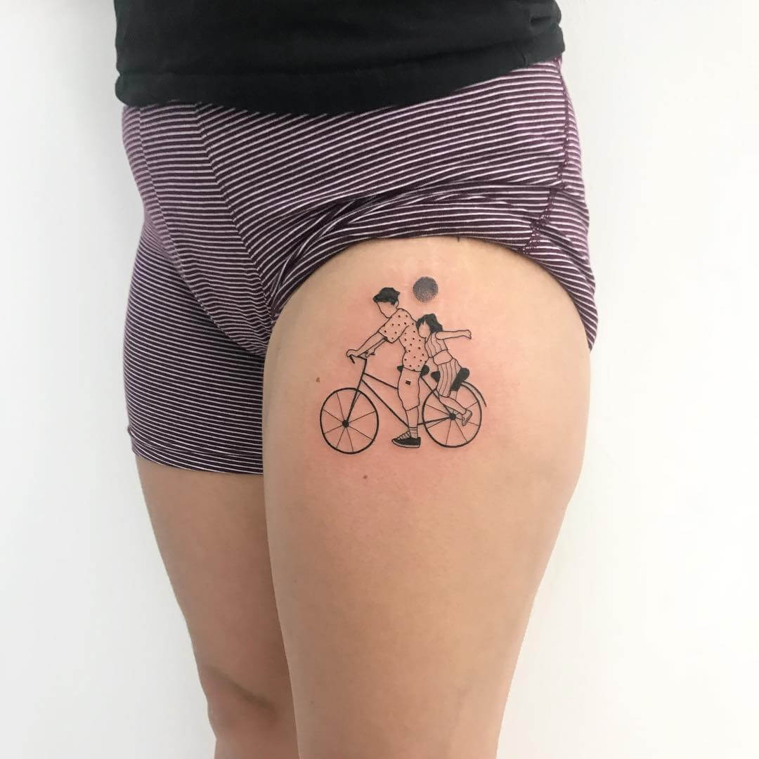 Bicycle tattoo from lenkatane_tattoo