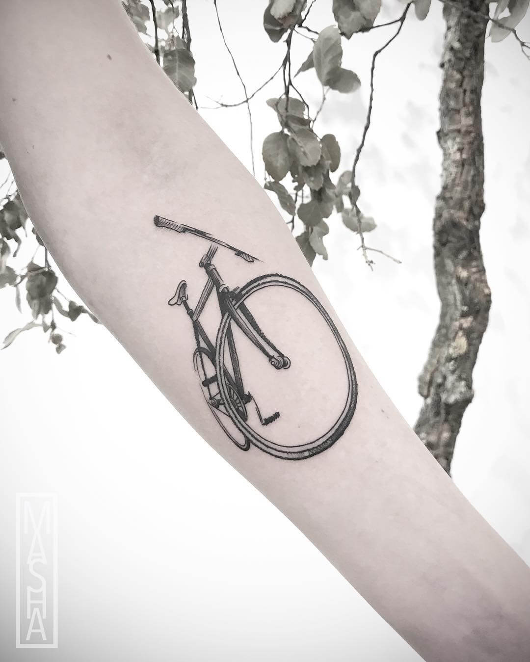 Bicycle tattoo from mashatattoo