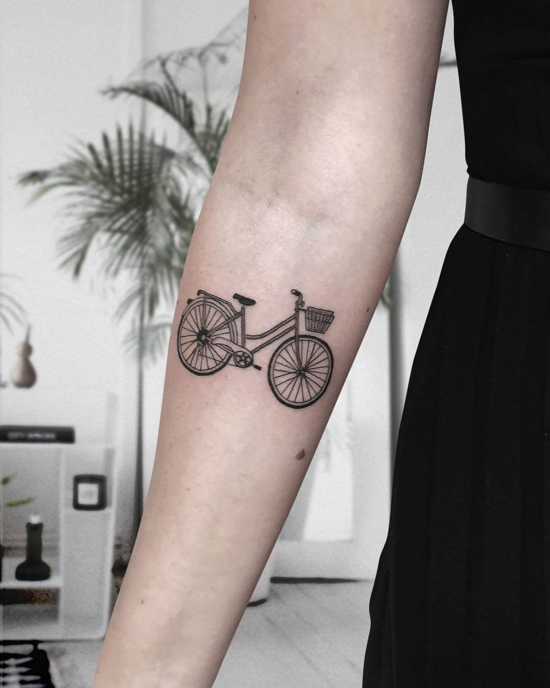 Cute bicycle tattoo from Michele Costante
