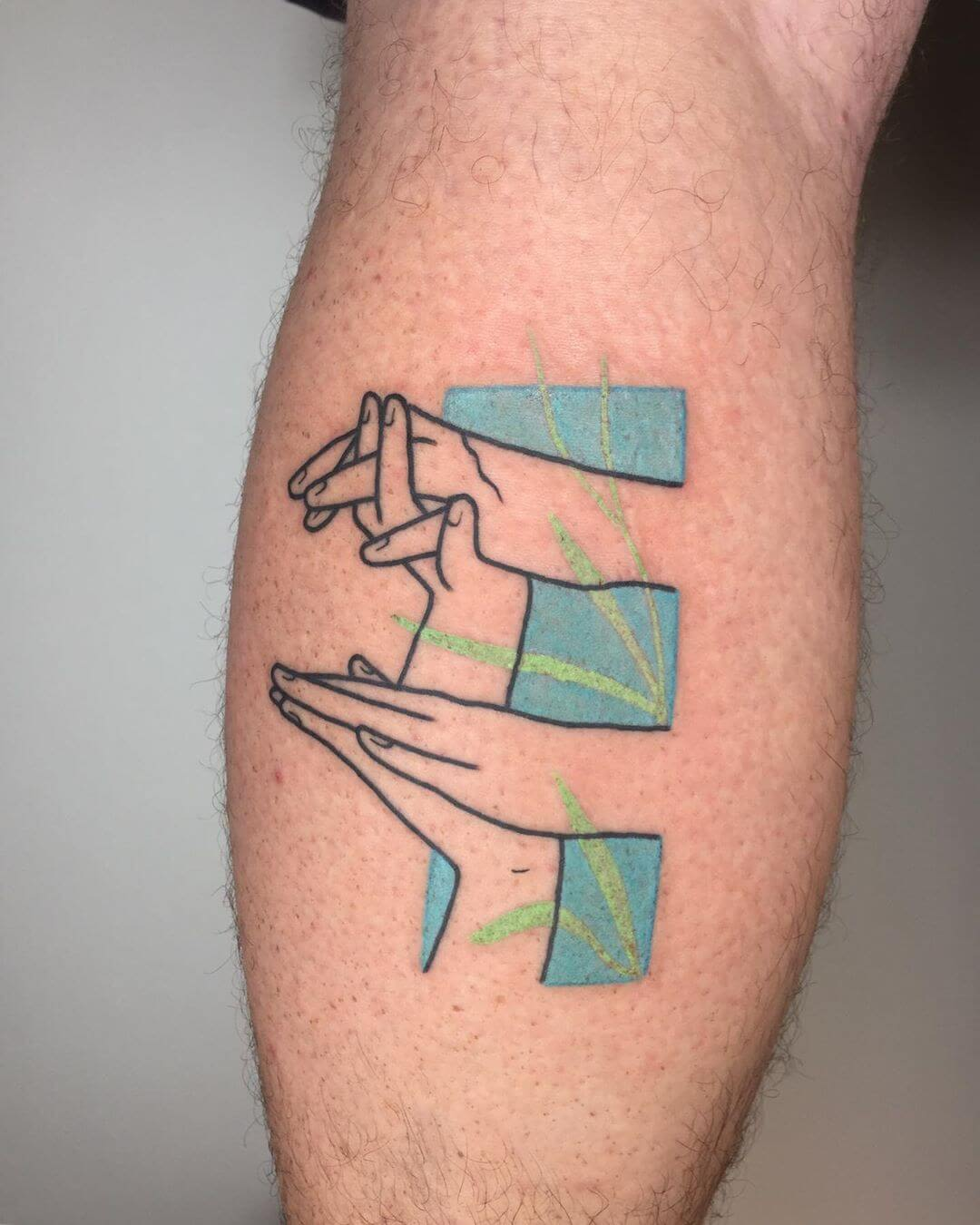 Hands making signs tattoo by Blaabad
