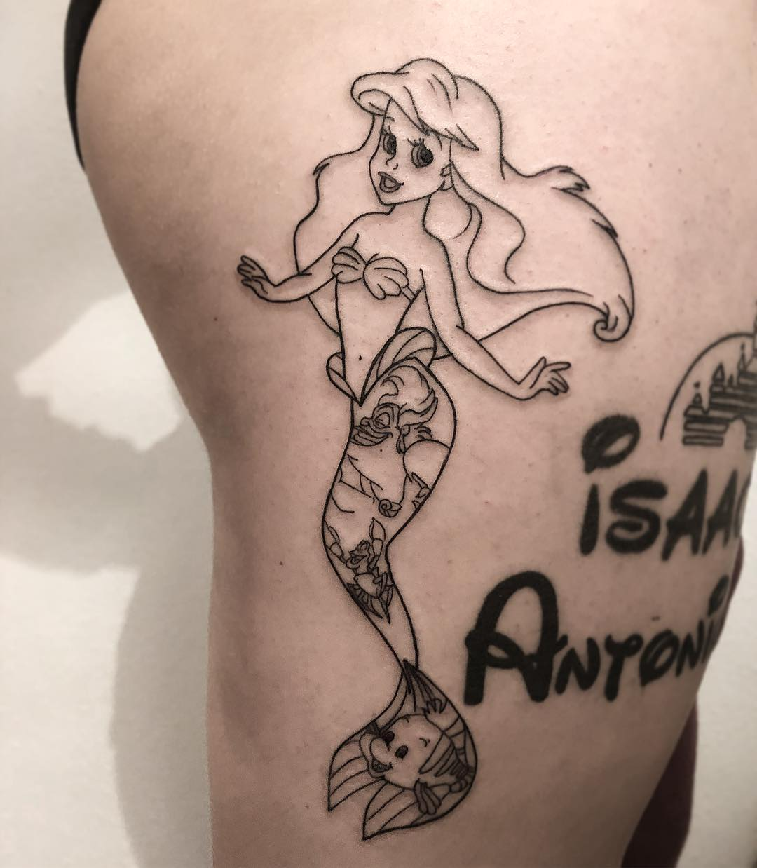 Disney Arial the little mermaid tattoo