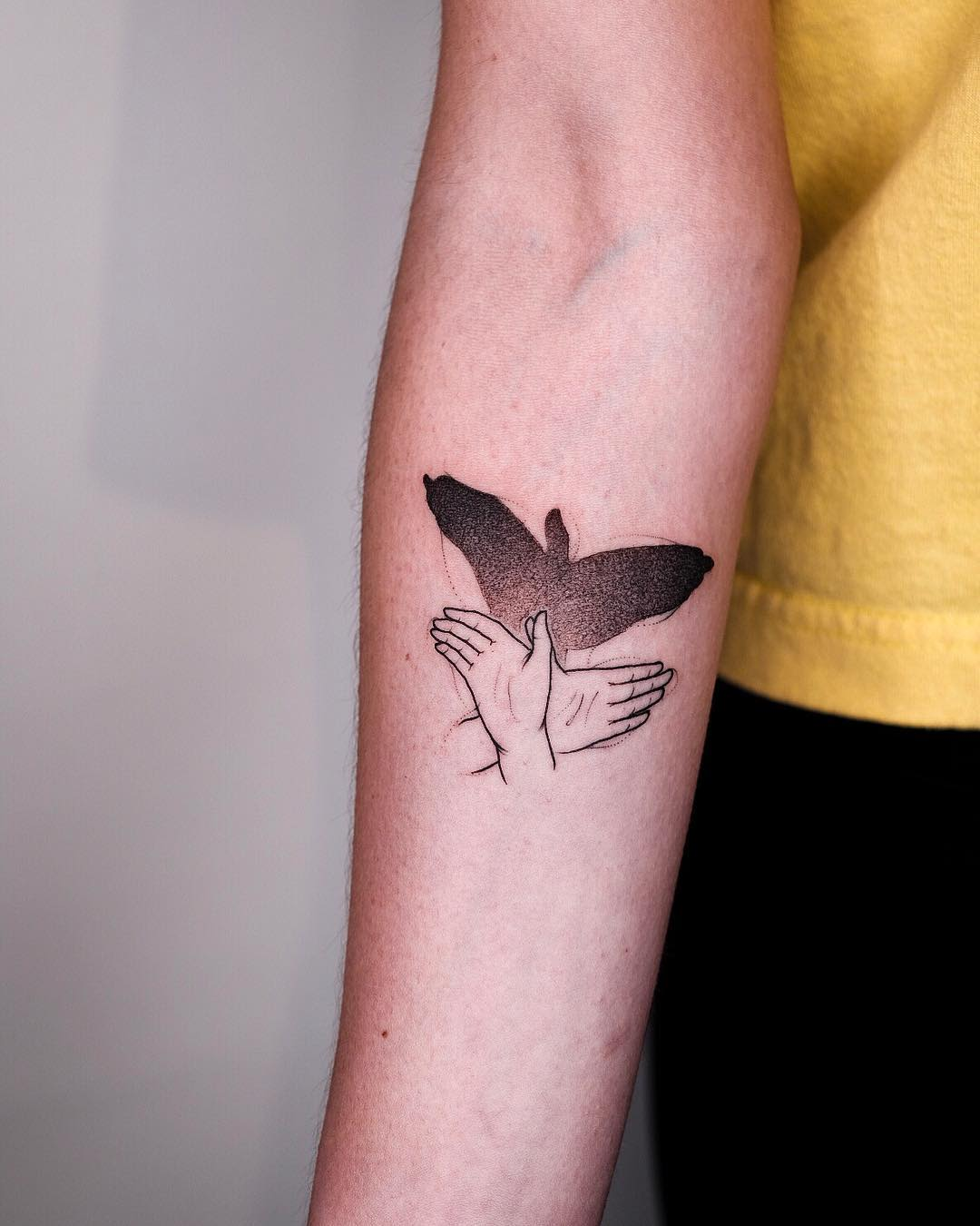 Marc Bonin shadow hands tattoo