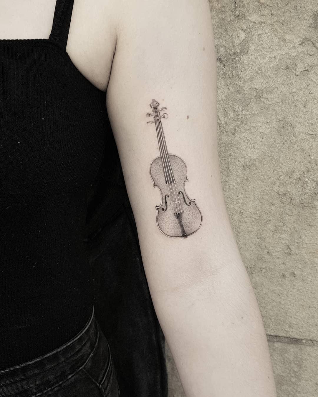 Tattoo of a cello