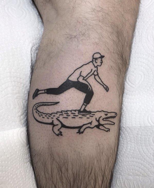 Skaters tattoos