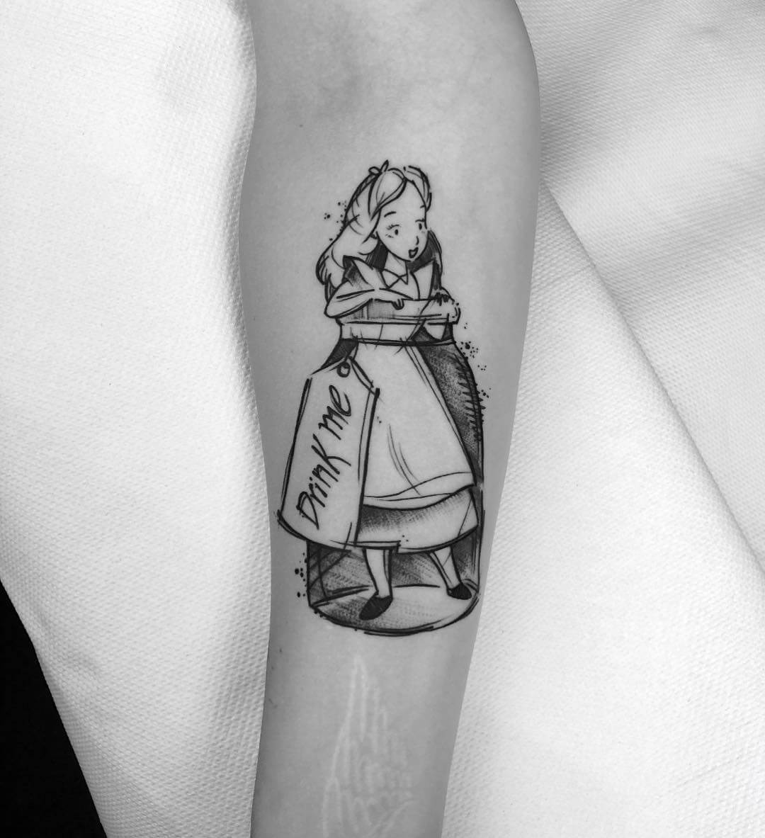 Alice in wonderland poison tattoo