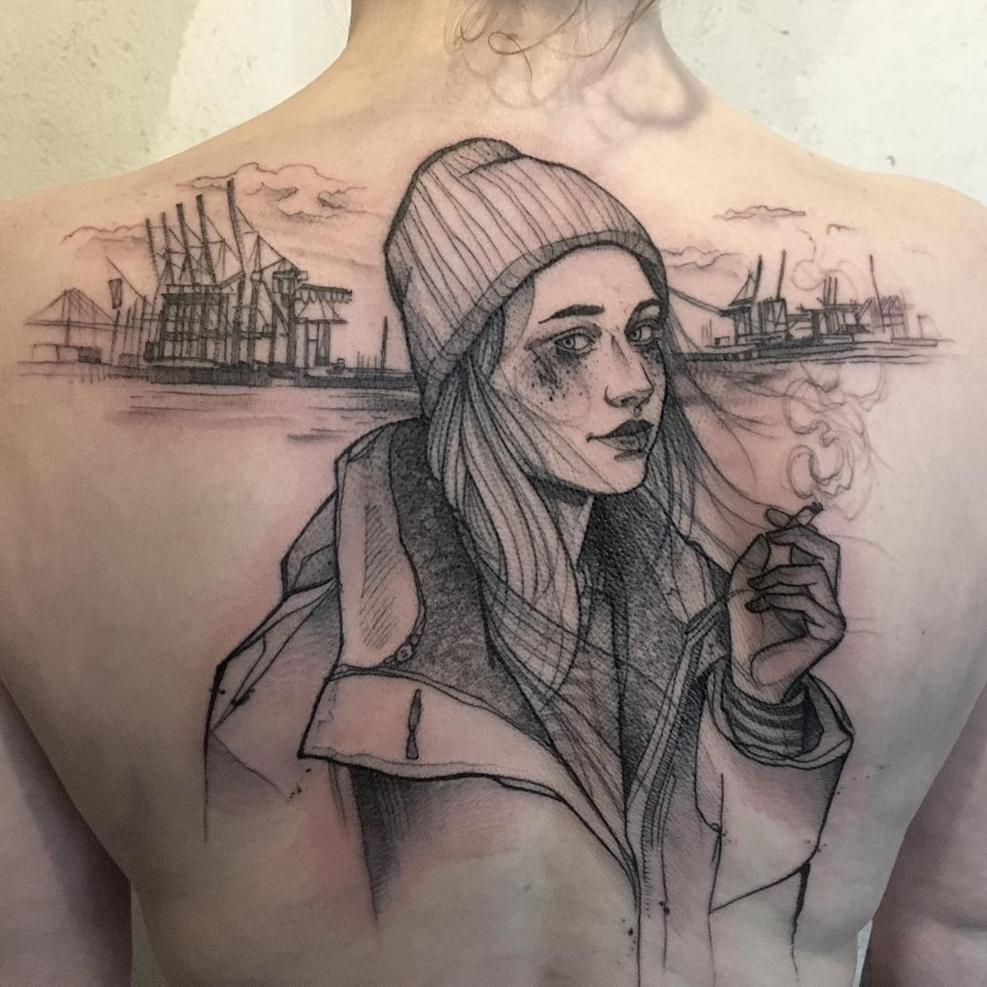 Anki Michler Portait Tattoo