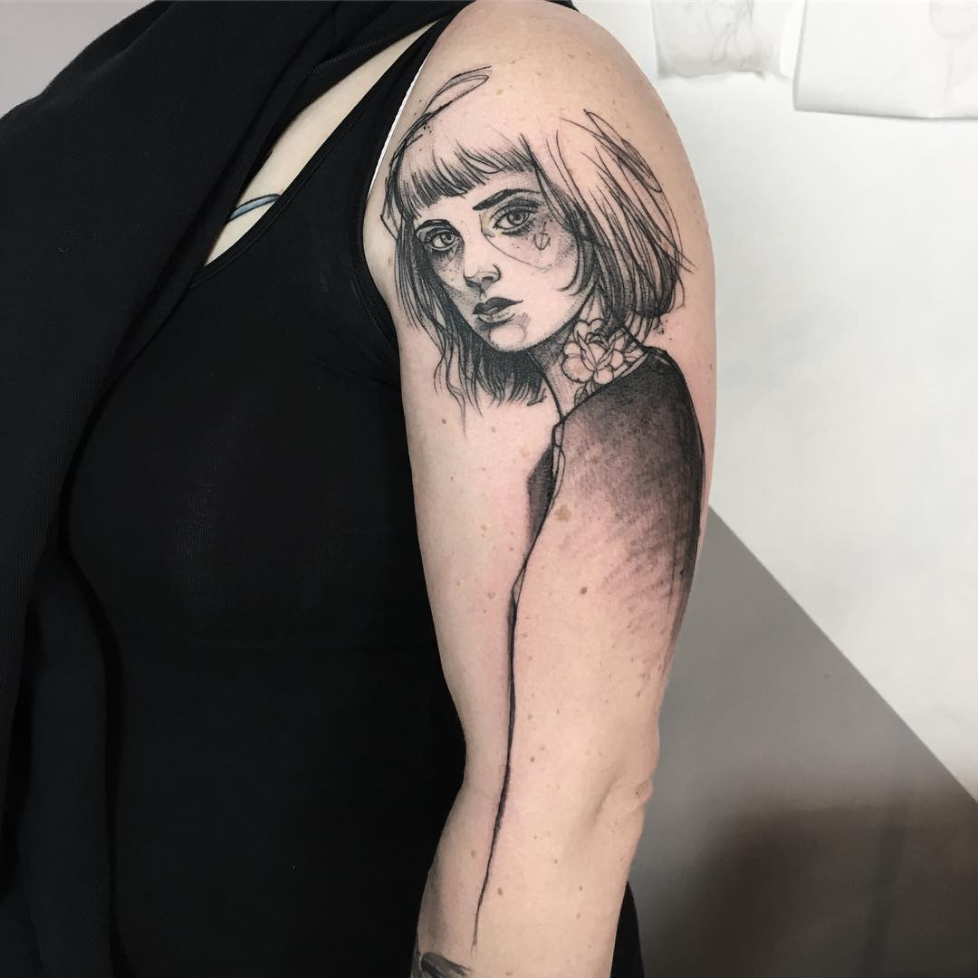 Anki Michler Portrait Tattoo