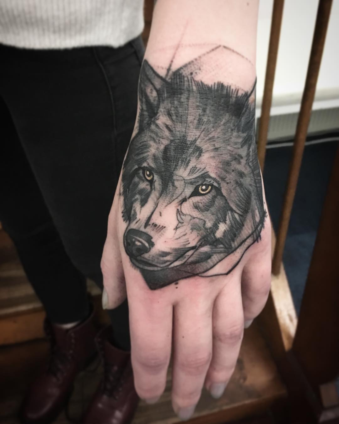 Anki Michler Wolf Tattoo