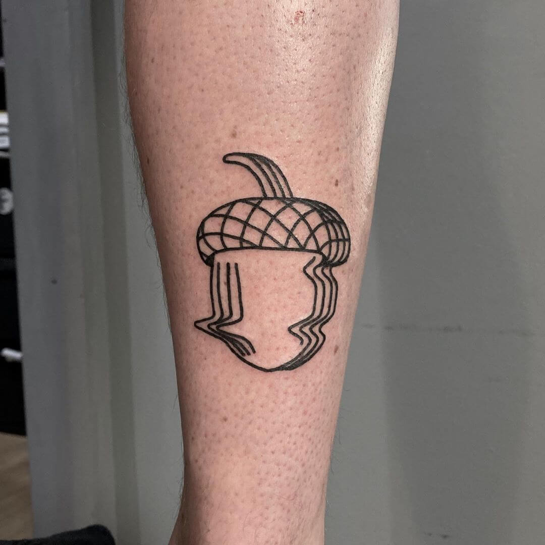 acorn glitched tattoo by Aphelion Hoodz
