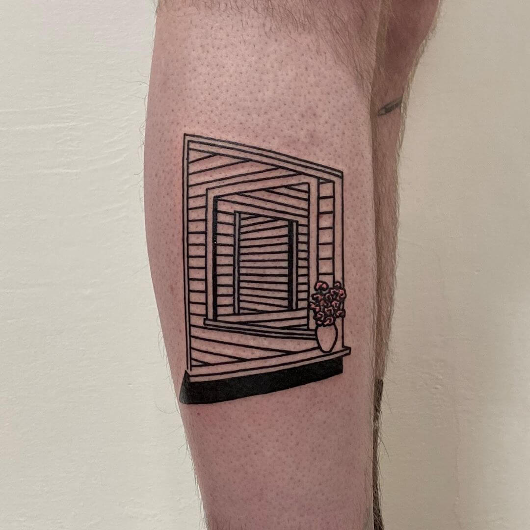 window inception tattoo by Aphelion Hoodz
