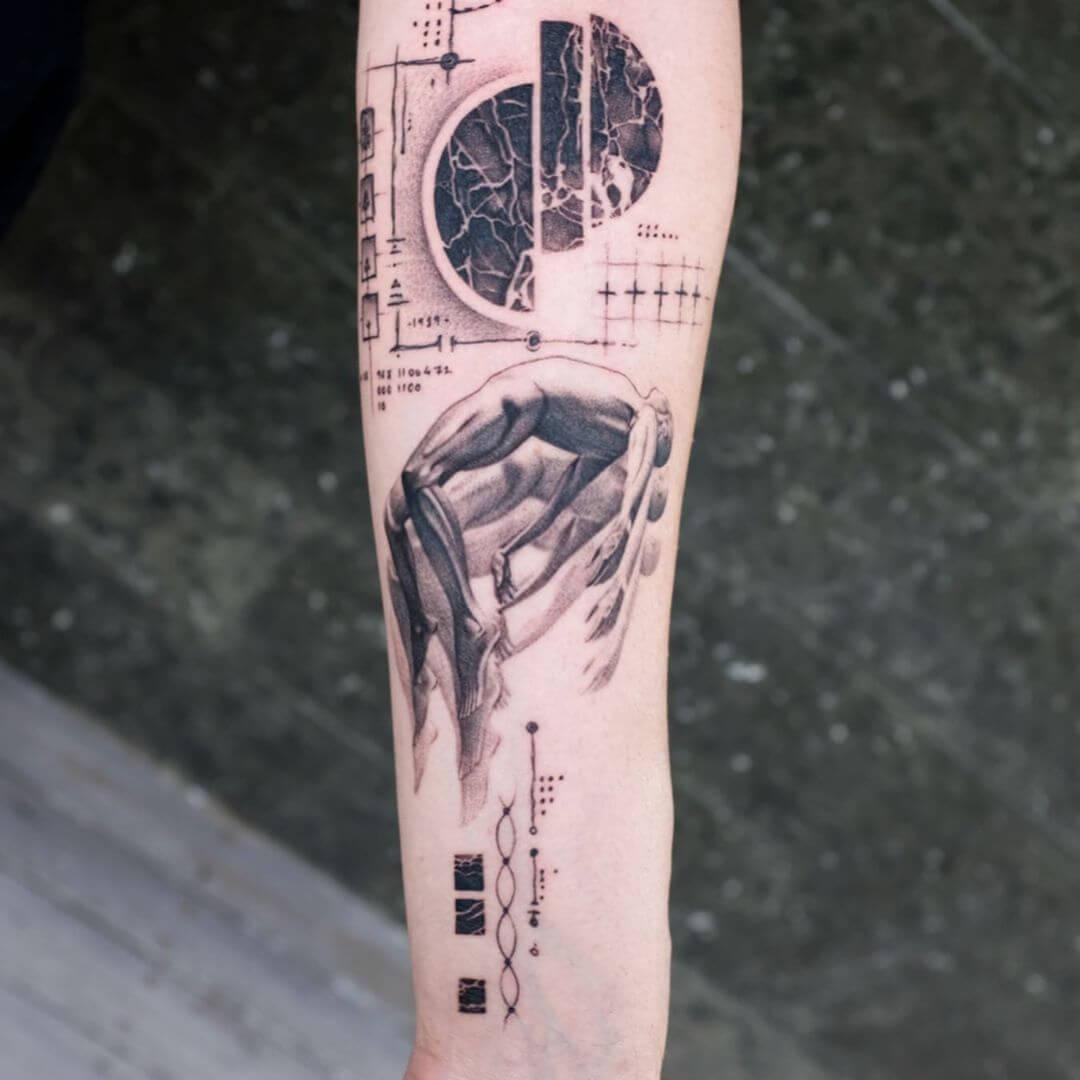 Balazs Bercsenyi falling tattoo