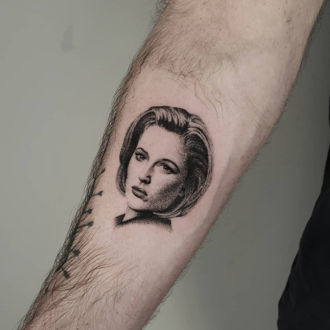 Scully portrait tattoo by Breakkytime