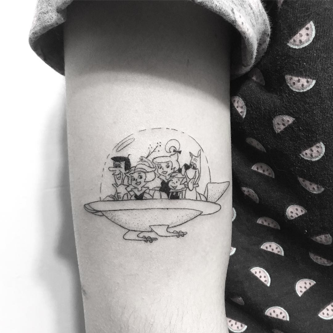 Childhood tv show The Jetsons tattoo