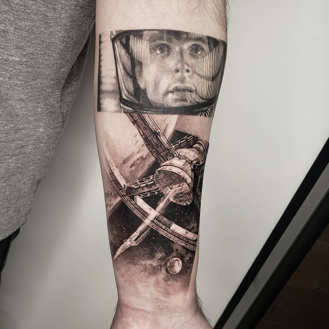 Space astronaut tattoo by Goldy_z