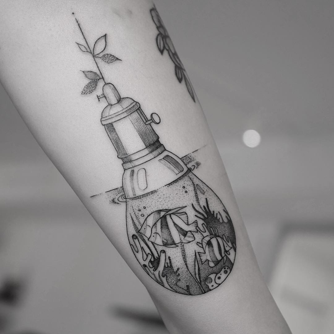 Aquarium Original Lightbulb tattoo