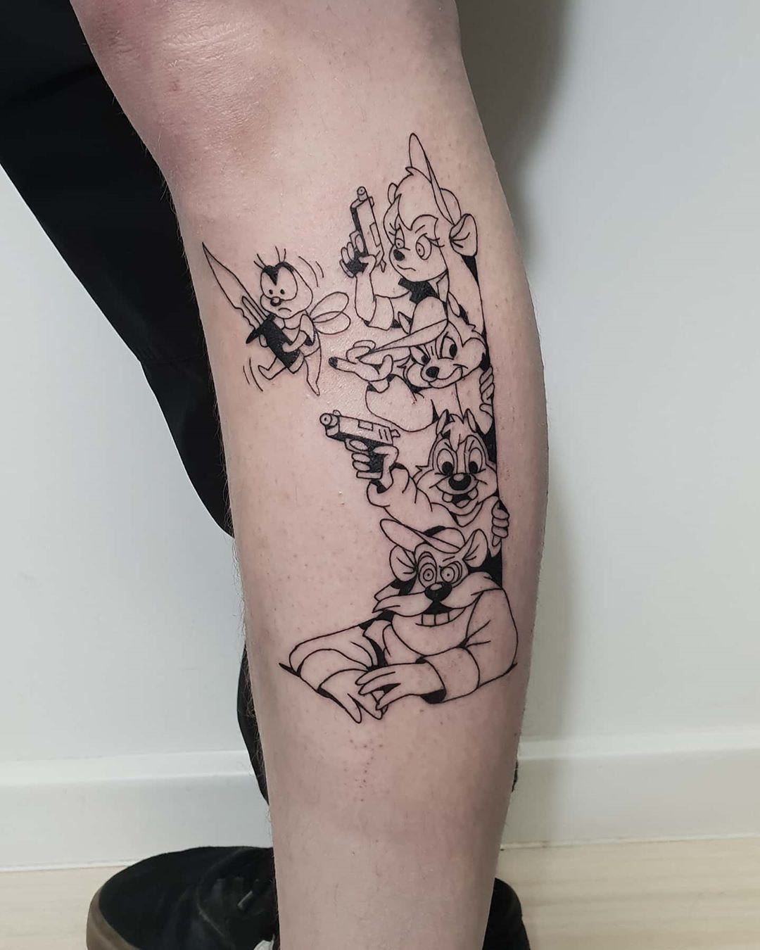 The Rescuers cartoon with a twist tattoo by Lugosis
